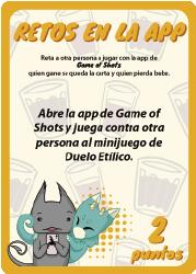 Game of Shots - RETOS EN LA APP